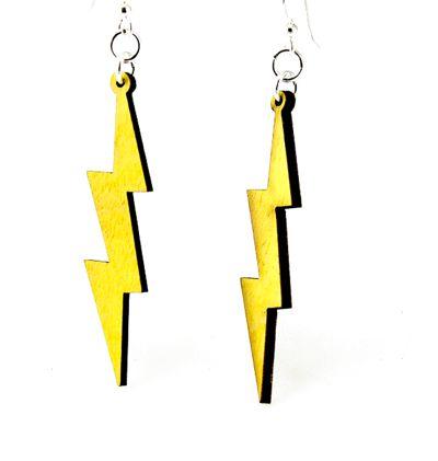 Slender Lightning Bolt Earrings 1398