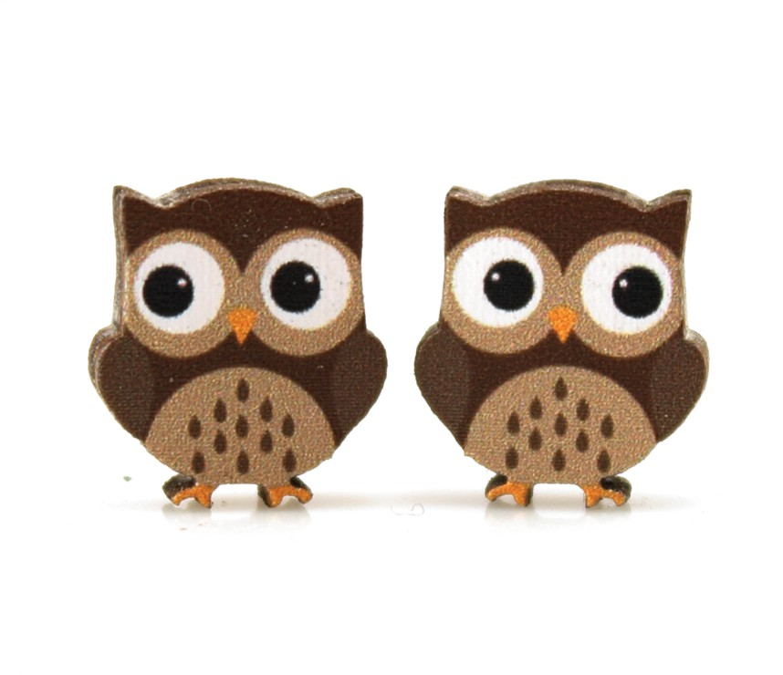 Owl Stud Earrings 3071