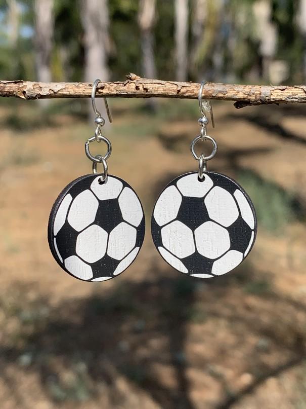 Soccer Ball Earrings