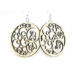 Natural Wood Circles N Circles Wood Earrings