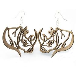 gray rhino wood earrings