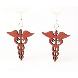 Tangerine medical symbol earrings