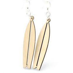 Natural Wood Surfboard wood earrings