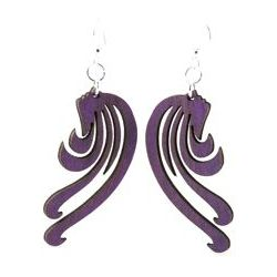 Purple blowing wind earrings