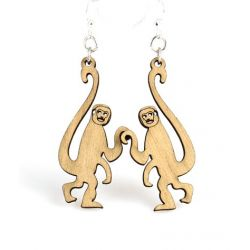 Tan monkey earrings