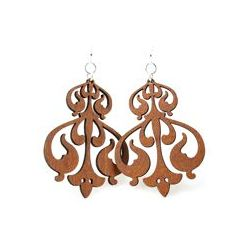 Cinnamon rorschach ink design earrings