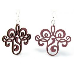 wine vintage filigree earrings