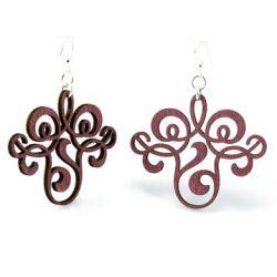 wine vintage filigree earrings