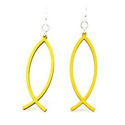 Yellow Fish Icon Earrings