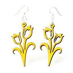 Lemon Yellow Wood Earrings