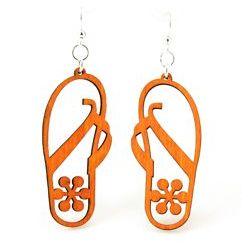 Tangerine Flip Flop Earrings