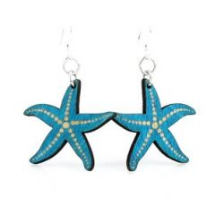 Aqua Marine Starfish Earrings