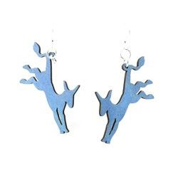 Democratic donkey wood earrings