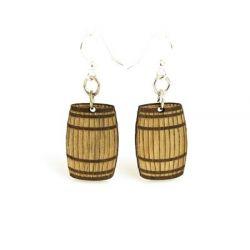 Barrel wood earrings