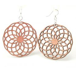 pink circumscribe circle earrings