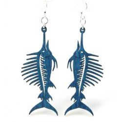 royal blue sword fish earrings