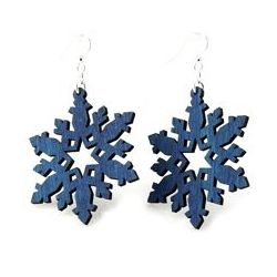 royal blue star snowflake earrings