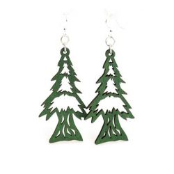 kelly green pine tree earrings