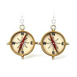 Compass Wood Earrings