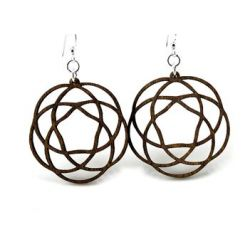 Brown Celtic Knot Wood Earrings