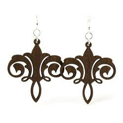 Brown Chandelier wood earrings