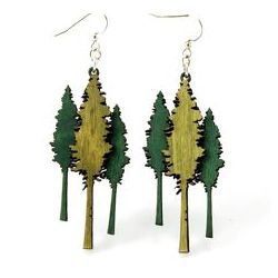 Redwood Tree wood earrings