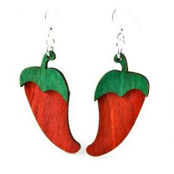 pepper wood earrings