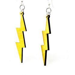slender lightning bolt earrings