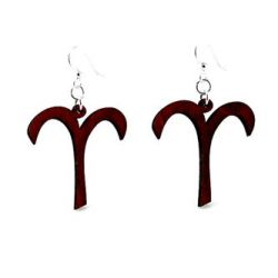 black aries wood earrings