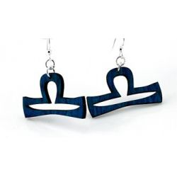 black libra wood earrings