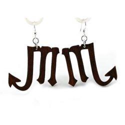 black satin scorpio earrings