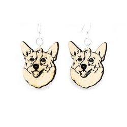 corgi wood earrings