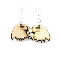 eagle wood earrings