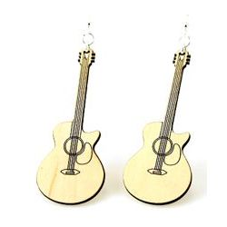 cut away guitar earrings