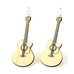 cut away guitar earrings