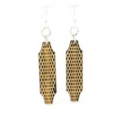 optical illusion wood earrings