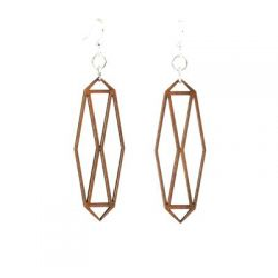 cinnamon barn door wood earrings