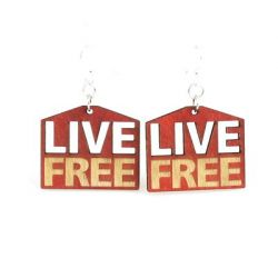 live free wood earrings