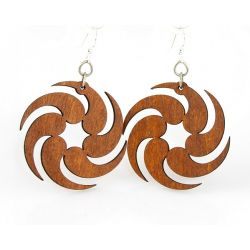 Cinnamon fireball wood earrings
