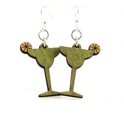 margarita wood earrings