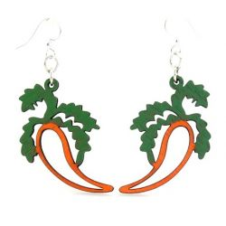 Carrot wood earrings