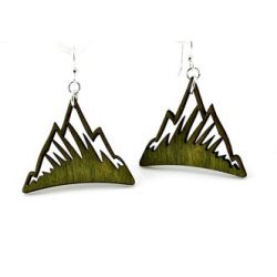 green mountain wood earrings