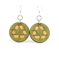 recycle wood earrings