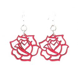 small rose earrings