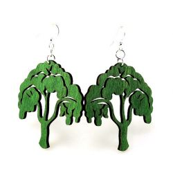 Tree of life wood earrings