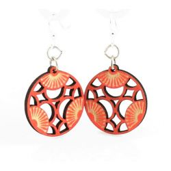 tri blossom wood earrings