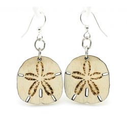 Sand Dollar Wood Earrings
