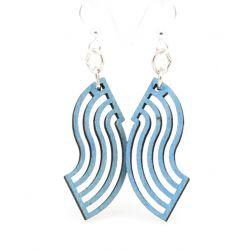 flowing blossom wood earrings