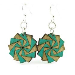 twilight zone blossom wood earrings