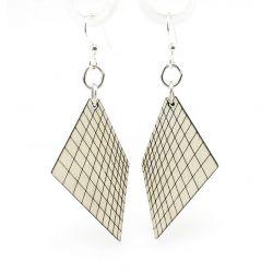 Gray graph wood earrings